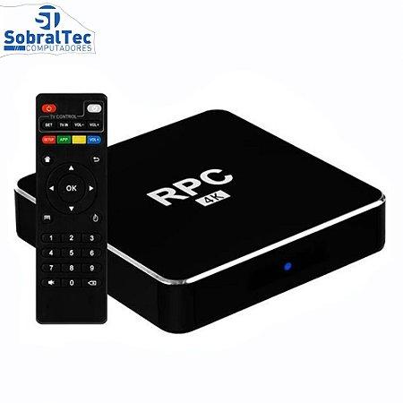 TV Box RPC 8K 32GB / Memória RAM 4GB / Android 9.0 - Preto
