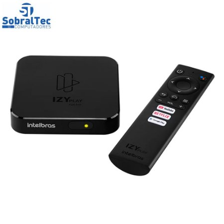 Smart Box Android TV Izy Play 4143010 Intelbras