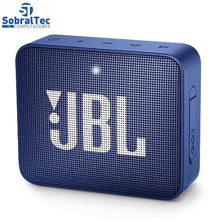 Mini Caixa de Som JBL GO 2 Bluetooth - Portátil 3W à Prova de Água- Azul