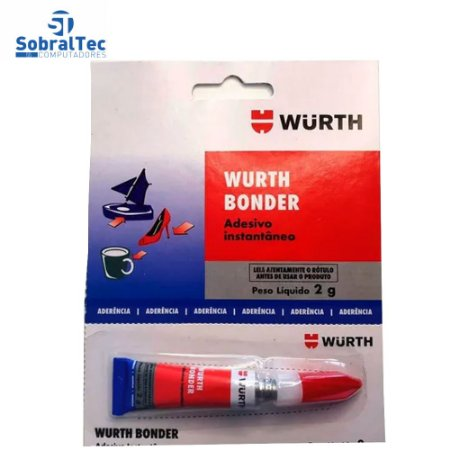 Cola Wurth Bonder Adesivo Instatanio 2 Gramas- Para Materiais Diversos