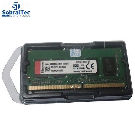 Memoria Ram Notebook 4Gb Ddr4 2400MHz KVR24S17S6/4 Kingston