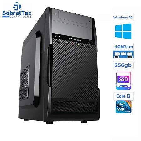 Computador Core i3-HD SSD 256GB - Memória Ram 4GB- Micro- ATX MT-11BK C3Plus- Windows 10