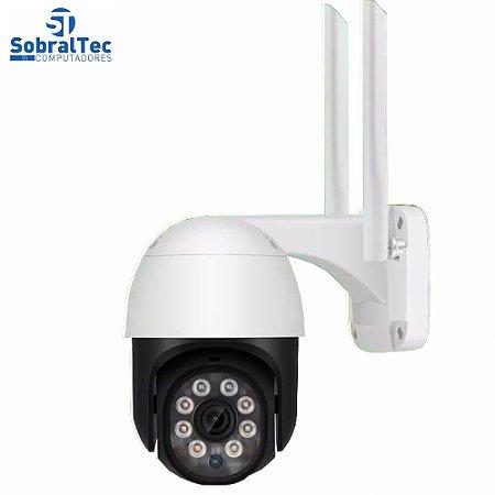 Câmera De Segurança IP Wi-Fi Externa Visão Noturna Detectora De Áudio Com Cartão Sd 64Gb A9B-EU
