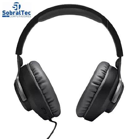 Fone de Ouvido JBL Quantum 100 Com fio e Microfone OVER-EAR - Preto