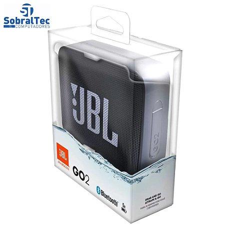 Mini Caixa de Som JBL GO 2 Bluetooth - Portátil 3W à Prova de Água Preto