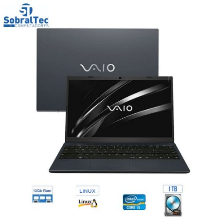 "Notebook VAIO Core i5-8250U 12GB 1TB Tela Full HD 14"" Linux FE14 VJFE41F11X-B1121H"