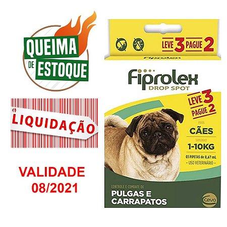 Fiprolex Para Cães Até 10kg Pague 2 Leve 3 VALIDADE: 08/2021
