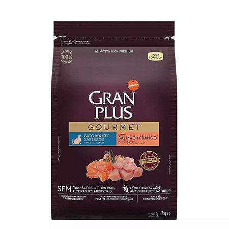Ração Gran Plus Gourmet Gatos Castrados Salmão e Frango 1kg