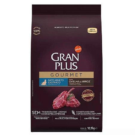 Ração Gran Plus Gourmet Gatos Castrados Ovelha Arroz 10,1kg