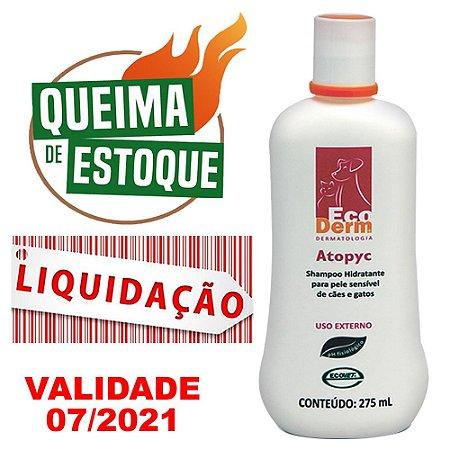 Shampoo Ecovet Ecoderm Atopyc - 275ml - LIQUIDAÇÃO