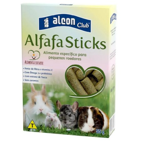 Alcon Club Alfafa Sticks Para Roedores 55g