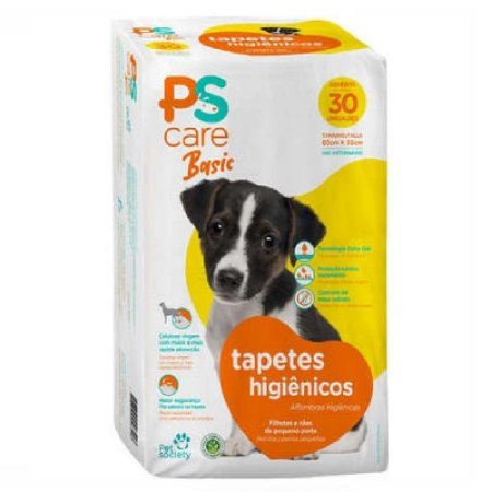 Tapete Higiênico Pet Society Ps Care Basic 60x55 30un