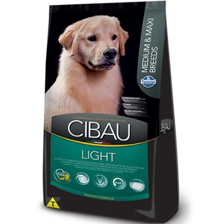 Ração Cibau Light Cães Raças Médias e Grandes 12Kg - Farmina