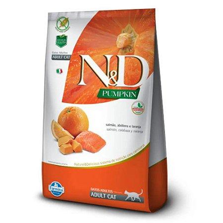 Ração N&D Pumpkin Gatos Adultos Salmão, Abóbora Laranja 1,5g