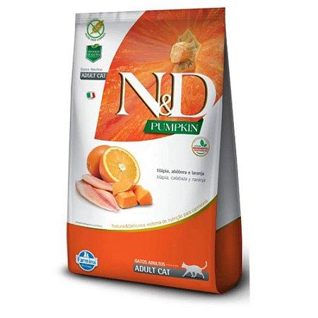 Ração N&D Pumpkin Gatos Adulto Tilápia Abóbora Laranja 1,5Kg