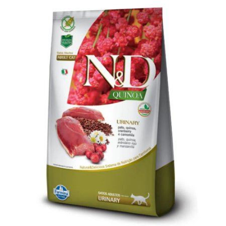 Ração N&D Quinoa Urinary Gatos Adultos Pato 400g - Farmina