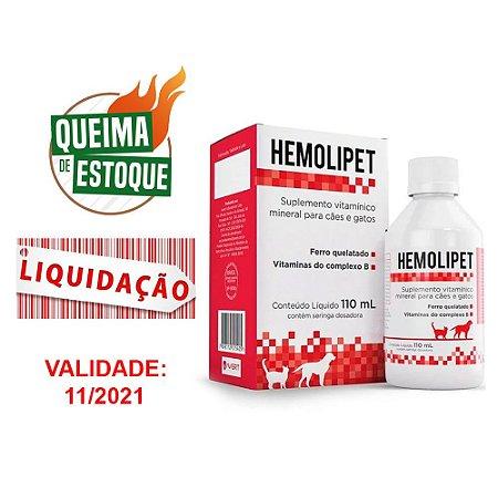 Hemolipet 110ml - Avert (VAL: 11/21) Liquidação