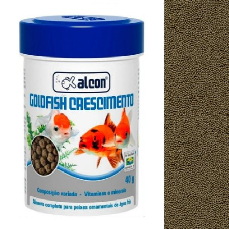 Ração Alcon Goldfish Crescimento Peixes Ornamentais 40g