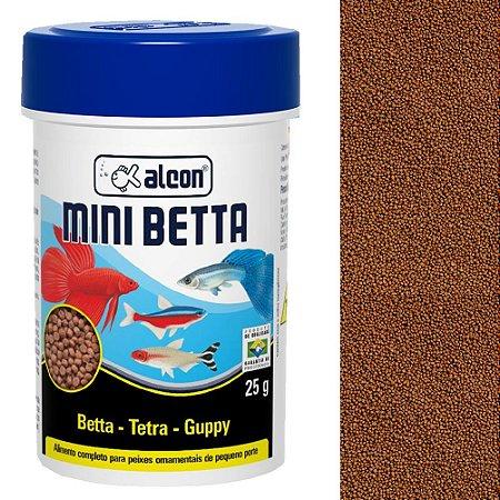 Ração Alcon Mini Betta Peixes Ornamentais Pequeno Porte 25g