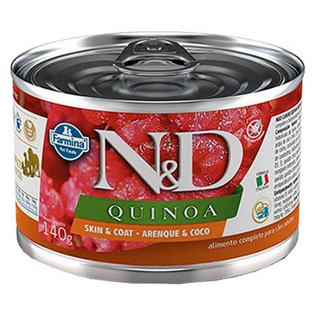 Ração Úmida N&D Lata Cães Quinoa Skin Arenque 140g