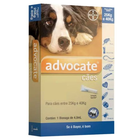 Advocate para Cães 25 a 40kg Antipulgas e Carrapatos 4,0ml