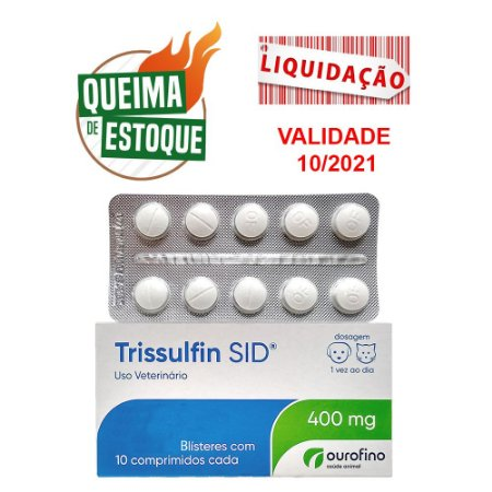 Trissulfin SID 400mg Blister 10 Comprimidos (VAL: 10/21)