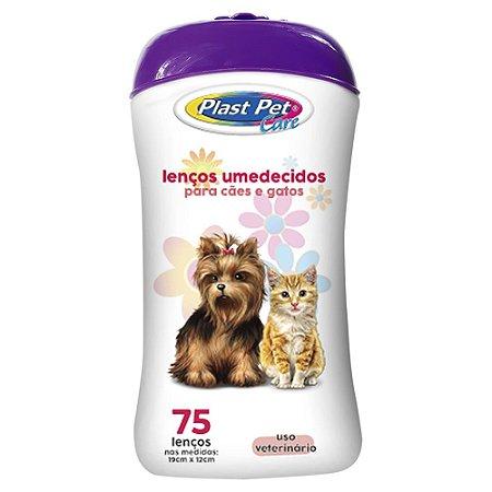 Lenços Umedecidos Plast Pet Care 75Un