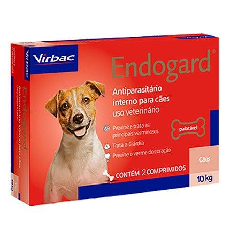 Vermífugo Endogard Cães Até 10kg - 2 Comprimidos - Virbac