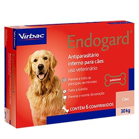Vermífugo Endogard Cães Até 30kg - 6 Comprimidos - Virbac