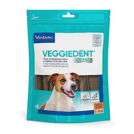 Tiras Mastigáveis VeggieDent Fr3sh Higiene Oral Cão Pequeno 5 a 10kg - Virbac