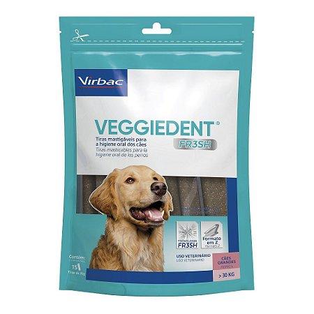 Tiras Mastigáveis VeggieDent Fr3sh Higiene Oral Cão Grande Acima 30kg - Virbac