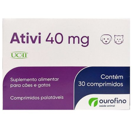 Suplemento Alimentar Ativi 40 mg Cães e Gatos - OuroFino