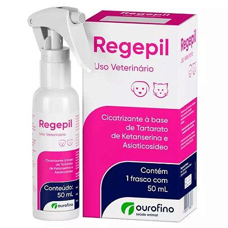 Cicatrizante Regepil 50ml para Cães e Gatos - Ourofino
