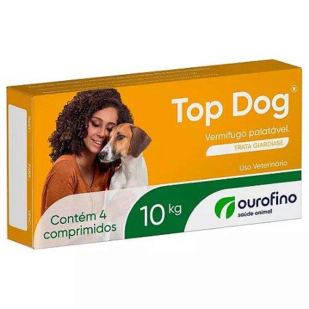 Vermífugo Com Sabor Top Dog 10kg 4 Comprimidos - OuroFino