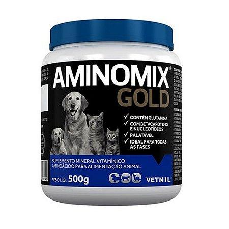 Suplemento Vitamínico Aminomix Gold 500g - Vetnil