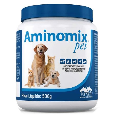 Suplemento Vitamínico Aminomix Pet Pó 500g - Vetnil