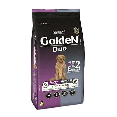 Ração Premium Especial Golden Fórmula Duo Cães Adultos Sabor Salmão com ervas e Cordeiro e Arroz Raças Médias e Grandes 15kg - PremierPet