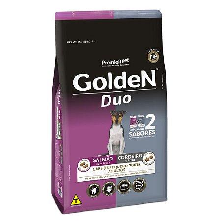 Ração Premium Especial Golden Fórmula Duo Cães Adultos Sabor Salmão com ervas e Cordeiro e Arroz Raças Pequenas 3kg - PremierPet