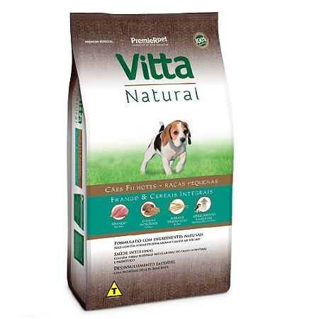 Ração Premium Especial Vitta Natural Cães Filhotes Raças Pequenas Sabor Frango e Cereais Integrais 3kg - PremierPet