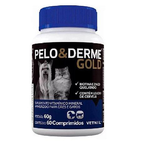Suplemento Vitamínico Pelo E Derme Gold 60 Comprimidos Cães e Gatos - Vetnil