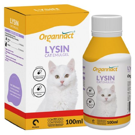 Suplemento Vitamínico Organnact Lysin Cat Emulgel 100ml