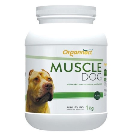 Suplemento Organnact Muscle Dog Massa Muscular - 1kg