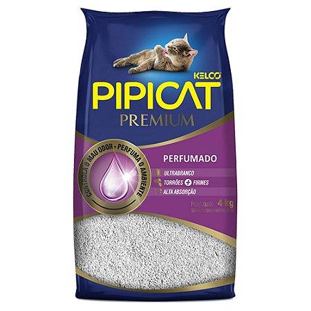 Areia Higiênica Pipicat Premium Perfumada 4kg