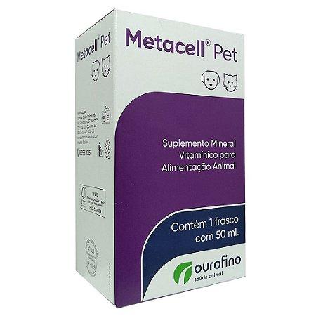 Suplemento Vitamínico Metacell Pet 50ml - Ourofino