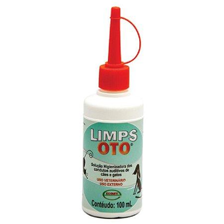 Solução Limps Oto Higienizadora Auricular 100ml Ecovet