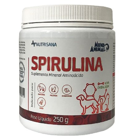 Suplemento Vitamínico Nutrisana Spirulina 250g Mundo Animal