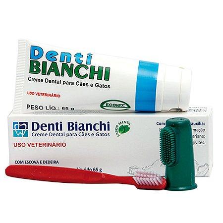 Creme Dental Denti Bianchi Cães e Gatos Aroma Menta 65g - Ecovet