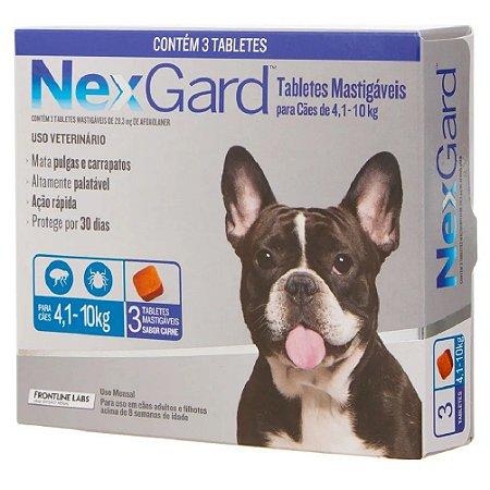 Nexgard Antipulgas E Carrapatos Cães 4 A 10kg - 3 Tabletes