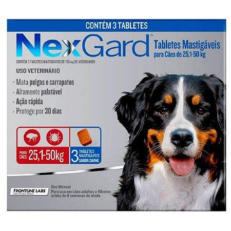 Nexgard Antipulgas E Carrapatos Cães 25 A 50kg - 3 Tabletes