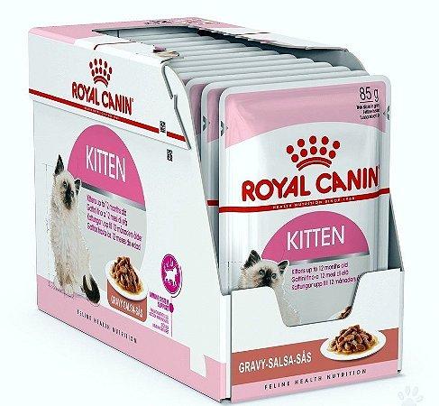 Ração Úmida Royal Canin Gatos Filhotes Kitten Wet Combo 12un 85g Cada